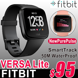 Fitbit Versa Lite Smart Watch Heart Rate SmartTrack PurePulse Activity Tracker 【No Retail Package】智能