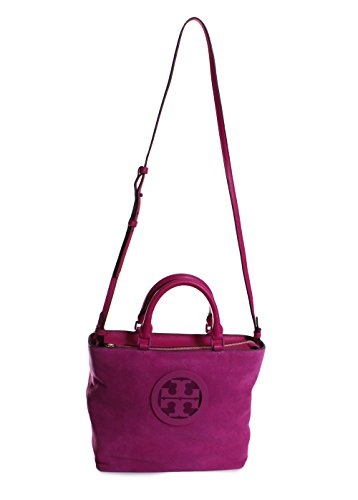 836d6c464ce  Shipping from USA Tory Burch Charlie Suede Small Tote Handbag in Party  Fuchsia