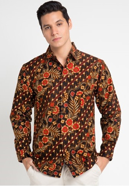 Rianty Batik Shirt Male Shirt Mark Black 22C88AAC5A58ECGS