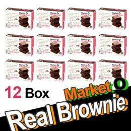 [Market O] Real Brownie Pure Chocolate - 12 Box ( 4EA x 12box = 48 EA) Hit Pie