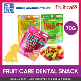 [FRUIT CARE] Dental Snack 70g S / M. Strawberry / Green Apple / Pineapple. Removes Plaque.
