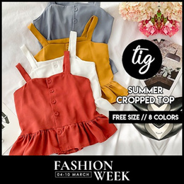 TIG ★ SUMMER SLEEVELESS TOPS ★ FREE SIZE ★ SIZE S - L ★ 8 COLORS★