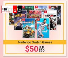 Popular Nintendo Switch games at $60