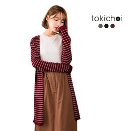 TOKICHOI - Striped Longline Cardigan-172311-Winter