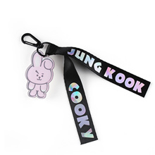 factory YOUNNE 1PC Fashion Kpop BTS BT21 Laser Lanyard Creative Bags Accessories TATA COOKY SHOOKY C
