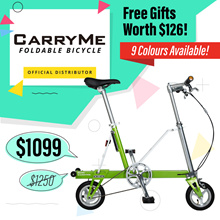 ★ CARRYME World Lightest Foldable Bike 🇸🇬 ★ LTA Approved for Bus and MRT ★