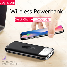 QI Wireless Charger Power Bank Display External Battery Powerbank for iphone X Samsung Xiaomi