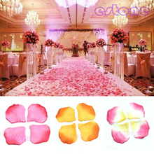 100pcs Silk Rose Flower Petals Leaves Wedding Table Decorations Event Party Supplies Multi Color Wre