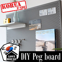 ★Steel Pegboard★Sticker Wallpaper decoration book shelf shelves organiser kitchen ware rack hanger