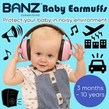 Baby Banz Earmuffs for 0-10 yrs Baby / Kids Boys/Girls Ear Hearing Protection