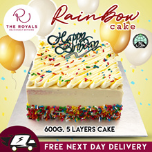 Royals RAINBOW CAKE with Lemon butter Cream (600g) - No Gelatin