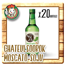 [KOREAN APPLEASE] Chateul Soorok Moscato Soju - Alc14% (360ml X 20) $9.25 Per Btl