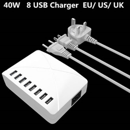 8 Port USB Quick Charger Wall Charger Smart Adapter Mobile Phone Charging HUB For Samsung iPhone
