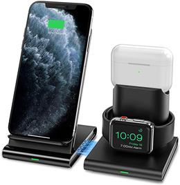 아이폰 애플워치 에어팟 프로 4in1 3in1동시고속 무선 충전기 거치대 올인원