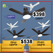 KDK ceiling Fan | DC Motor | 2 models to select | 48inch U48FP and 60inch U60FW