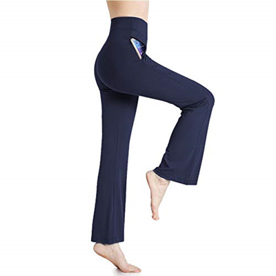 f255b84f99a78 Qoo10 - MILANKERR Navy Blue Yoga Pants with Pockets for Women ...