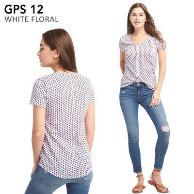 GPS 12 WHITE FLORAL