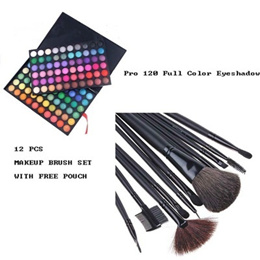 Pro 120 Full Color Eyeshadow Palette Eye Shadow + Brand new professional 12 PCS MAKEUP BRUSH SET WIT