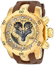 Invicta Mens 14464 Venom Analog Display Swiss Quartz Brown Watch