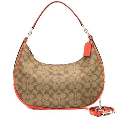 a7c3304025b5 ... official store coach bag shoulder coach outlet signature harley hobo 2  way shoulder bag f58288 svc8o