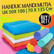 [ BUY 1 GET 1 ] HANDUK MANDI MUTIA UK 50 X 100 CM -  70x135 Cm