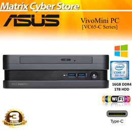 ASUS VivoMini PC VC65-CG7009ZN Intel Core i7-8700T Intel HD Graphics 16GB DDR4 1TB 802.11ac