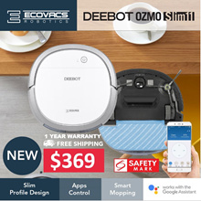 [LOCAL 1 Year WARRANTY] ECOVACS OZMO SLIM 11 Robot Vacuum Cleaner+ GoogleHomeSupport+AppsControl