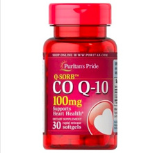 [SG] Puritans Pride 30 Softgels Q-SORB CoQ-10 Coenzyme CoQ10 100 mg Heart Health Supplement USA Made