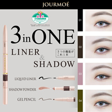 Award Winning Eye Makeup! Jourmoe Eyeliner +Eyeshadow + gel pencil (3-in-1)