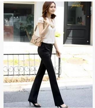 78c10365a9620 online Fashion 2018 Women Pants Spring Summer Plus Size Pants Formal Ol  Pant Casual Slim Work Wear W
