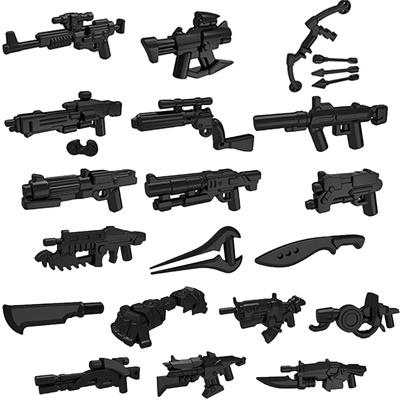 10pcs/lot star trek halo science fiction mini war future weapons guns knife  building block gifts