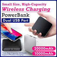 Wireless charging /Ultra thin Mini charging treasure10000 mAh 20000 mAh