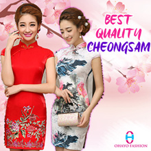 CNY Cheongsam Qipao/ Modern Cheongsam/ Oriental Traditional Dress 旗袍