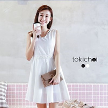 MAYUKI - Lace Dress with Necklace-6020849