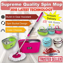 🇸🇬[2018 upgraded Mop]🇸🇬 Supreme Quality Spin Mop Newest Generation Mop set (with 2x mop refill)