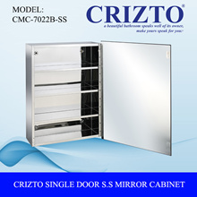 [Quality Bathroom Products] Crizto Single Door Stainless Steel Mirror Cabinet