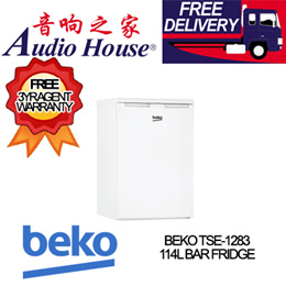 BEKO TSE-1283 114L BAR FRIDGE *** 3 YEARS BEKO WARRANTY *** FREE DELIVERY ***