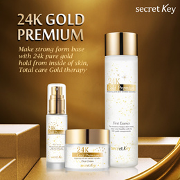 【Secret Key HQ】 24k Gold Premium First Essence 150ml/Cream 50g/Serum 30ml/Eye patch(60 packs)
