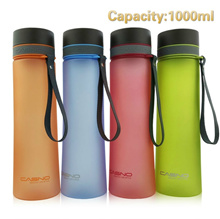 My Water Bottle Sports Shaker  Portable Plastic Water Bottles Frosted Tumbler With Filter Cover For