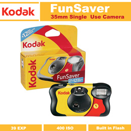 Kodak FunSaver Disposable Single Use Camera with Flash - 39 Exposures