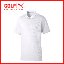 PUMA GOLF Men Asym Fade Polo - Bright White ★ FREE DELIVERY ★ AUTHENTIC ★ 7 DAY RETURNS & EXCHANGES