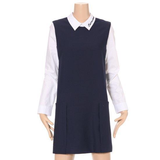ルシャプLeShopシャツレイヤード日付ワンピースLG3OP401 面ワンピース/ 韓国ファッション