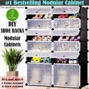 Shoe Rack DIY Modular Cube Storage Shelf Wardrobe Box Door Cabinet
