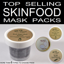 Skin Food ★ Top Selling Mask Pack / Wash Off - Black Sugar / Rice / Egg White Pore. Skinfood