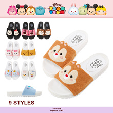 Gracegift-Disney Tsum Tsum TopQ Texture Sandals/Women/Ladies/Girls Shoes/Taiwan Fashio