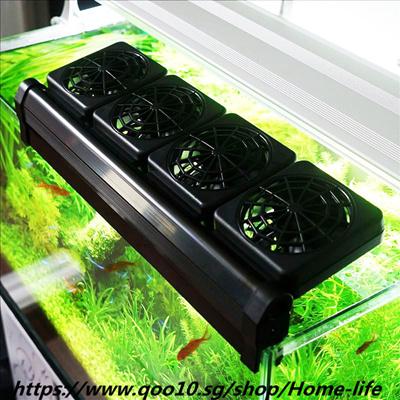 Aquarium Cooling Fan 1/2/3 Fans Fish Tank Cold Wind Chiller Adjustable 2  Level Wind 100-240V Tempera