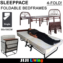FOLDABLE Bedframes! ★4-Fold ★Movable | Portable ★Metal Steel structure ★Furniture