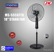 MORRIES MS 555SFTR 18 INCHES STAND FAN W/REMOTE (AL ALLOY FAN BLADE)(24 MONTH WARRANTY)