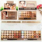 Kiss Beauty Concealer 3 in 1 Bronze Highlighter and contour 24 Colors # Camouflage Concealer Corecctor Counturing Base Foundation Makeup Palette # FREE OVAL BRUSH OR EYESHADOW UD VICE 2