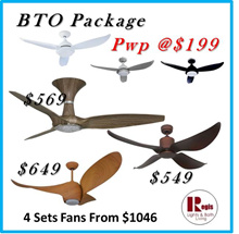 *$199 GLIDE* PWP with FANZTEC TWS-1/TWG-2/BREEZE/FLOW DC-MOTOR Ceiling Fan LED